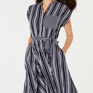 NWOT Charter Club Petite Striped Dress
